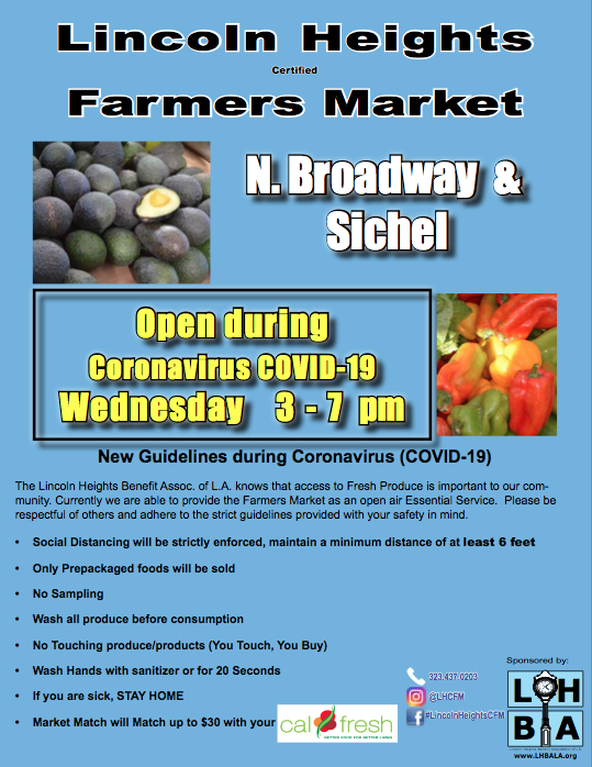 Famers Market Still Open for families during the temporary- Covid 19 restrictions