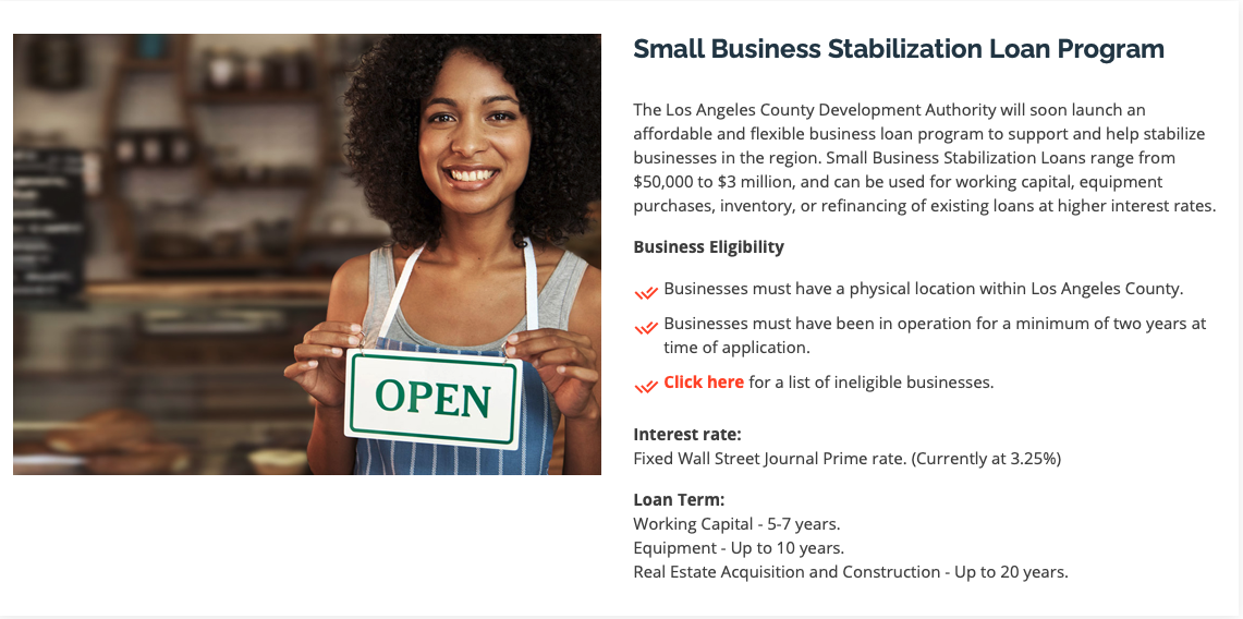 Lincoln Heights Bid Small Business Stabilization Loan Program