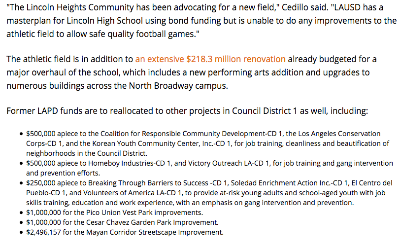 licoln heights funds field